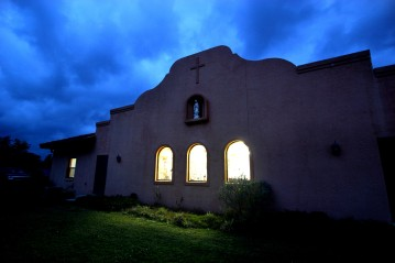 Ocala Star-Banner, Our Lady of Guadalupe Catholic Center, Ocala FL - Contact photographer - Night view of Our Lady of Guadalupe Saturday morning, April 08, 2006, Ocala, FL. ( Photo by Jannet Walsh/)2006