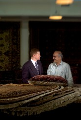 ###Rare Redhead: Jamal Fakhoury, 48, Ocala### Redheaded Dr. Jamal Fakhoury, 48, left, of Ocala, is a chiropractor by profession, chats about Persian rugs with Bahram Cyrus Assary, owner of the Cyrus Rug Gallery, in Ocala. American born, Dr. Fakhoury is originally from the Detroit, Michigan area, but spent part of life growing up in the Middle East. A Muslim by faith, has a family heritage with links to Lebanon from his mother's family and Palestine on his father's side. Fakhoury has a younger brother with red hair, including his father, both grandfathers, a grandmother and even a daughter with a signs of auburn red hair. Fakhoury is surrounded by Persian rugs at the Cyrus Rug Gallery, in Ocala, Saturday afternoon, April 9, 2005, Ocala, FL, USA. (Jannet Walsh/Star-Banner)2005