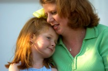 ###Rare Redhead: Mother and daughter redheads: Jennifer Gordon, 35, and daughter Grace Gordon, 5, at First Presbyterian Church, Ocala### Jennifer Gordon, 35, and her daughter Grace Gordon, 5, both of Ocala, both have red hair. Here the redhead pair are on the steps of their church, First Presbyterian Church, on Southeast 3rd Street, Tuesday evening, April 12, 2005, Ocala, FL, USA. (Jannet Walsh/Star-Banner)2005