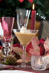 ###NEWS Vivian Levine (cq) make holiday desserts with liquors, Summerfield, FL CONTACT PHOTOGRAPHER 352-598-7976 - cell### Vivian Levine (cq) makes holiday desserts with liquors. Here is the pumpkin taking dessert drink with Triple Sec, Friday morning, September 15, 2005, Summerfield, FL. ( Jannet Walsh/Star-Banner)2005