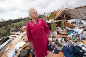 ###Ocala Star-Banner – Day after tornados in the Lake Mack area, Deland, FL### Remains of a Virgin Mary and other items are placed on what remains on the home of Nellie Byrd(cq) at Lake Mack area located east of Paisley and west of Deland and just south of Lake County Road 42, Saturday afternoon, Feb. 3, 2007, Deland, FL. ( Jannet Walsh/Star-Banner)2007