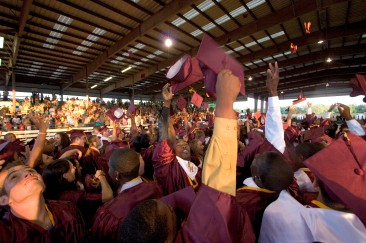 ###Ocala Star-Banner - North Marion High School graduation at the Southeastern Livestock Pavilion, Ocala, Ocala FL - Contact photographer at 352-598-7976. Photo Editor Alan Youngblood, 352-598-7967### Students celebrate with diplomas in hand at the North Marion High School graduation at the Southeastern Livestock Pavilion, Ocala, Thursday evening, May 18, 2006, Ocala, FL. ( Photo by Jannet Walsh/Star-Banner)2006