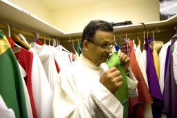###Freelance for The Florida Catholic Ð Father George , Ocala, Fla. ### The Rev. George Maniangattu, pronounced money-in-got, of Our Lady of the Springs, in Ocala, originally from India, will travel to Rome in Oct. 2008. Pope Benedict XVI at the Vatican will declare his Great Aunt, the late Sister Alphonsa, 1910-1946, of Bharananganam, Kerala, India, an official saint on Oct. 12, 2008. Father Maniangattu will be traveling to the canonization ceremony in Rome, considered to be the highest recognition of a life by the Roman Catholic Church, Friday morning, Oct. 3, 2008, Ocala, Fla. (Jannet Walsh/Freelance for The Florida Catholic )2008